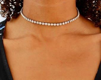 diamant choker glitter