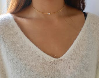 Choker pearl y | Etsy