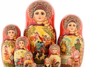 Matryoshka Ivan Tsarevich and the Grey Wolf 10 seats