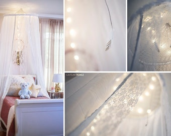 Dream Catcher Bed Canopy , Personalized Bed Canopy , Wall Crown , Mosquito  Net, Custom Bed Canopy , Baby Bed Canopy , Nursery, Dreamcatcher
