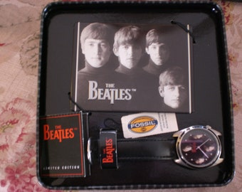 Beatles Watch Fossil Limited Edition Meet the Beatles Watch Set New