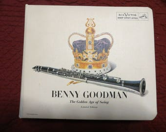 BENNY GOODMAN Golden Age Of Swing 15 45 rpm ep enhanced Record ALBUM Set 1956 w/ book  - Minty