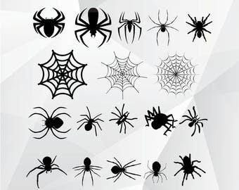 Spider svg,png,jpg,eps/Spider clipart for Print,Design,Silhouette,Cricut and any more