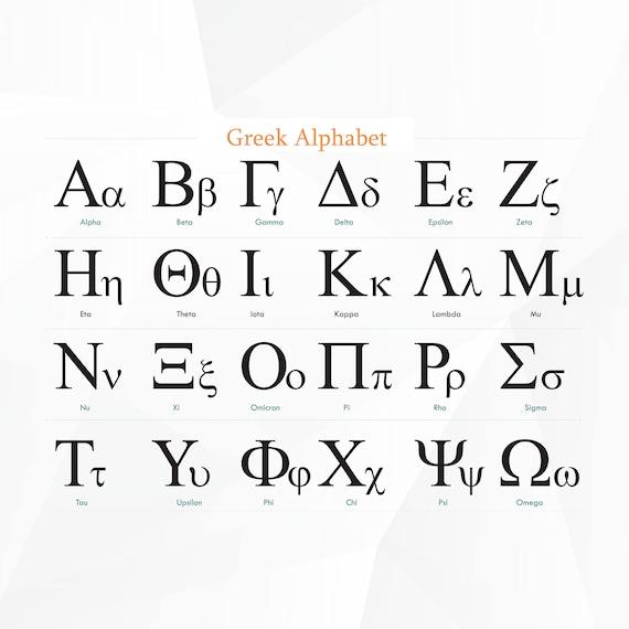 Greek Alphabet SVG,DXF/ Greek Font svg/ Greek Font svg for  Silhouette,Cricut, Print,Design and any more