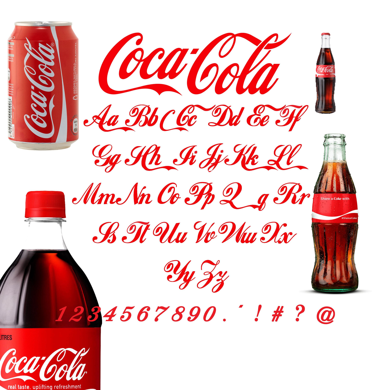 Coca cola Font SVG/Coca cola alphabet svg/Coca cola letters | Etsy
