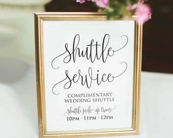 Printable Shuttle Service Sign