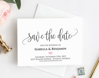 save the date cards etsy