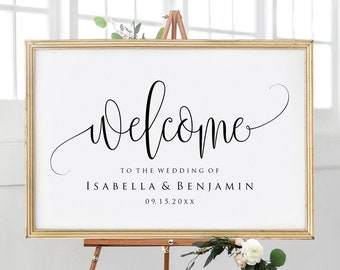 Wedding Welcome Sign Template Etsy