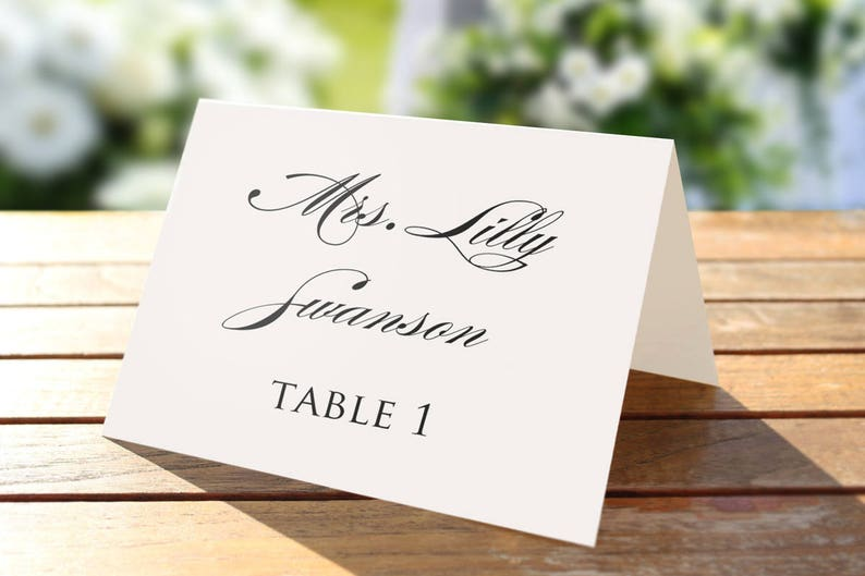 photo about Printable Place Card Paper known as Printable Area card template, Wedding day Room playing cards, Editable art shade, Official Seating Card, Wedding day track record tags, Rustic, Intimate, pdf