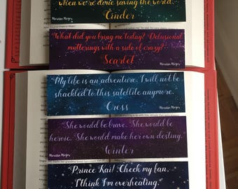 The Lunar Chronicles Bookmarks set 1 of 3
