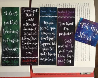 The Lunar Chronicles Bookmarks set 3 of 3