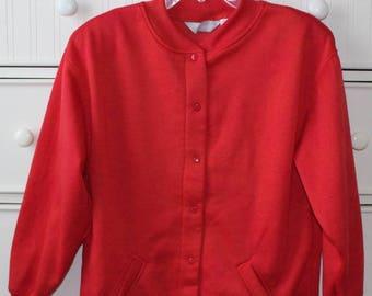 Red Bomber Sweatshirt
