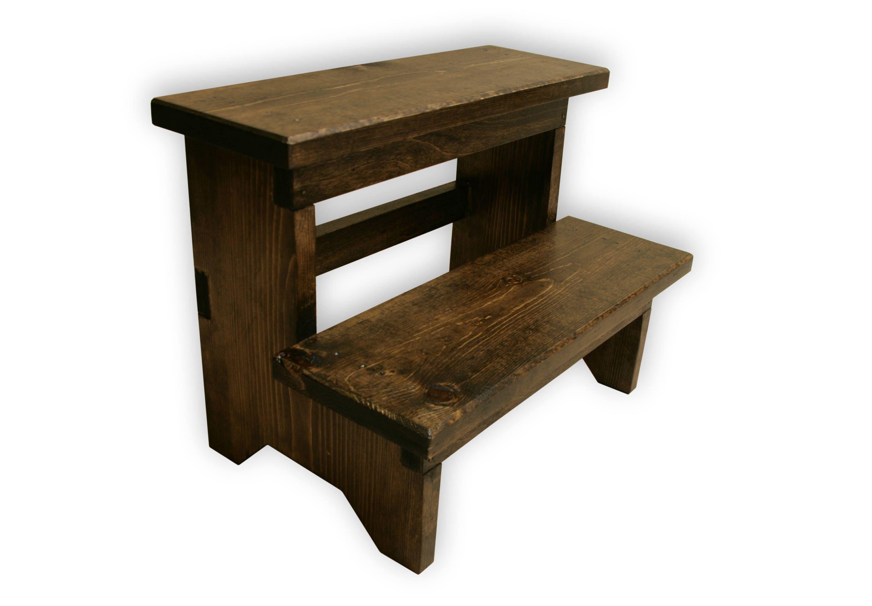 Step Stool, Wood step stool, kitchen step stool, kids step stool, wooden  step stool, rustic step stool, wood stepstool, gift for mom,