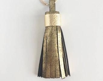 Tassel Keychain- Vintage Gold