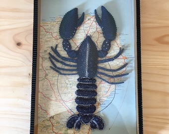 Framed cardboard lobster