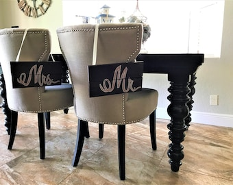 Custom chair signs/Weddings & Special events