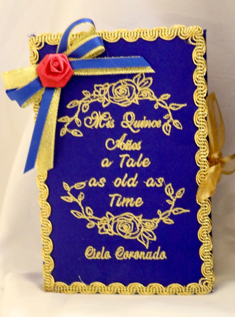 Quinceanera Accessories Bible Beauty And The Beast Theme Royal Etsy