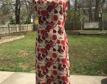 Reversible 1990s floral maxi dress Sm Med