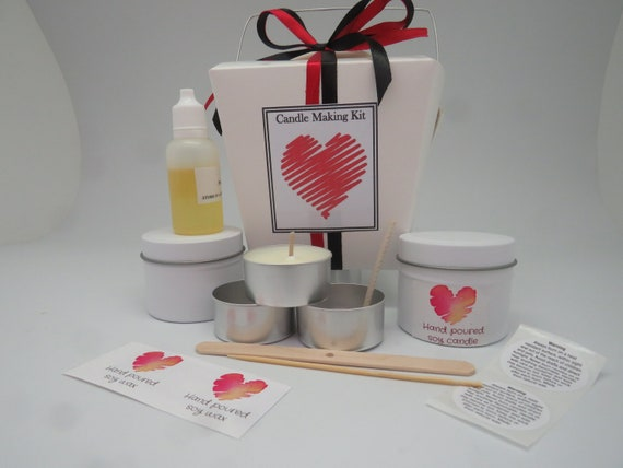 Mini Soy Candle Making Kit - two tins  Gorgeous gift