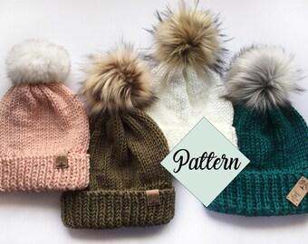 eb2d2383708 Folded Brim Beanie - Knit Pattern ~ knitting pattern
