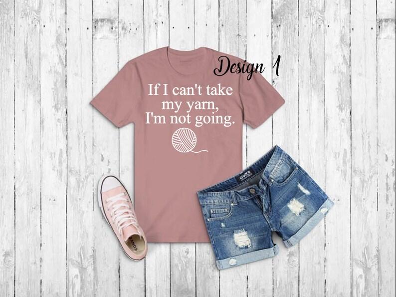 6bb77a1b37e79 Maker Adult Tee - 6 DESIGNS to pick from ~ yarn shirt, maker quote, crochet  shirt, knitting shirt, knitting needles, crochet hook custom tee