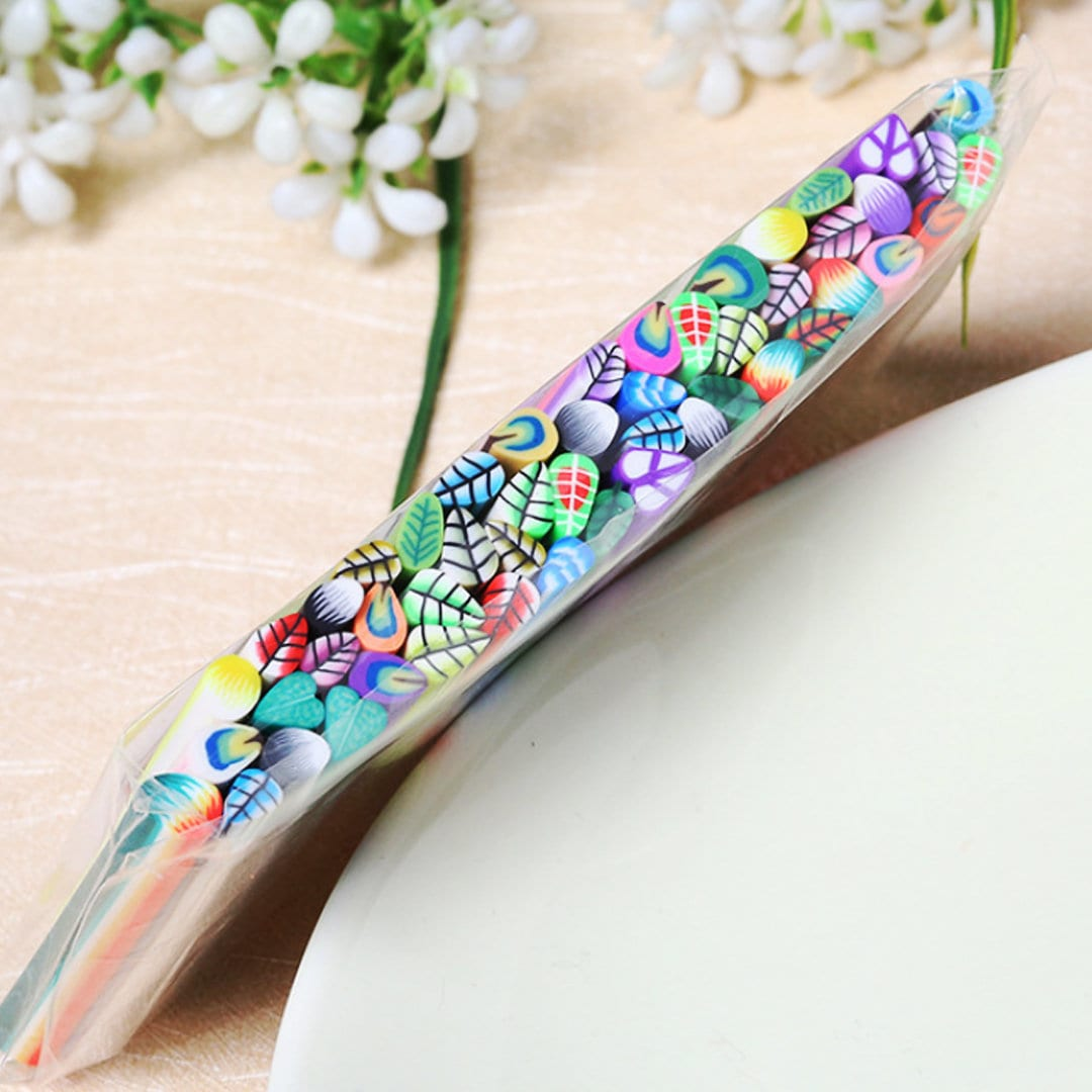 50 Feather Canes Polymer Clay Nail Art Fimo Slice Etsy
