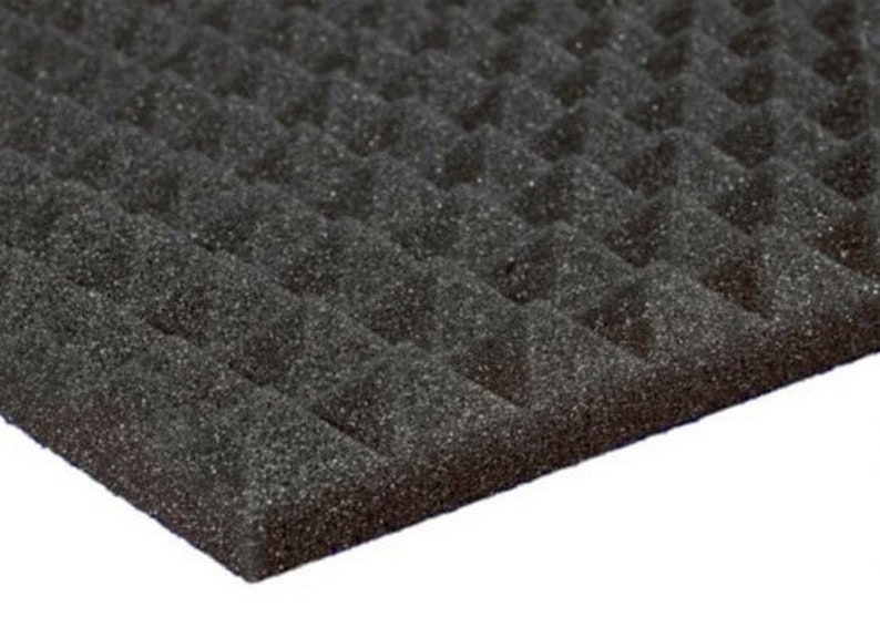 12 Pack of 12x12x1 Inch Acoustical Pyramid Foam Panel for Soundproofing Studio /& Home Theater-Charcoal Grey Free Shipping!!!