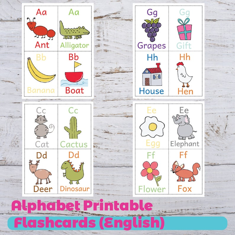 graphic regarding Alphabet Printable Flash Cards named Alphabet Flashcards - Alphabet - Alphabet Printables- Printable Flashcards - Preschool - Kindergarten - Trainer Supplies - Homeschooling