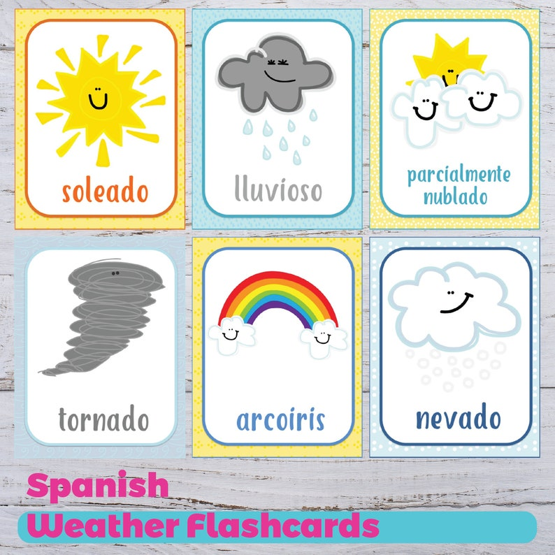image about Spanish Flashcards Printable identified as Climate Flashcards - Spanish Temperature Flashcards - Printable Temperature Flashcards - Spanish Homeschooling - Preschool Flashcards - Coaching