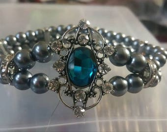 Beautiful Blue Crystal Bracelet