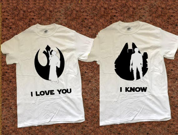 I Love You I Know Han And Leia Star Wars Quote Matching Etsy