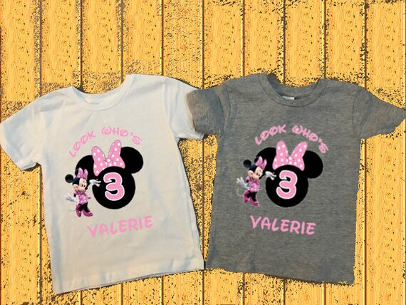 Minnie Mouse 3rd Birthday 3 Year Old Shirt Mickey