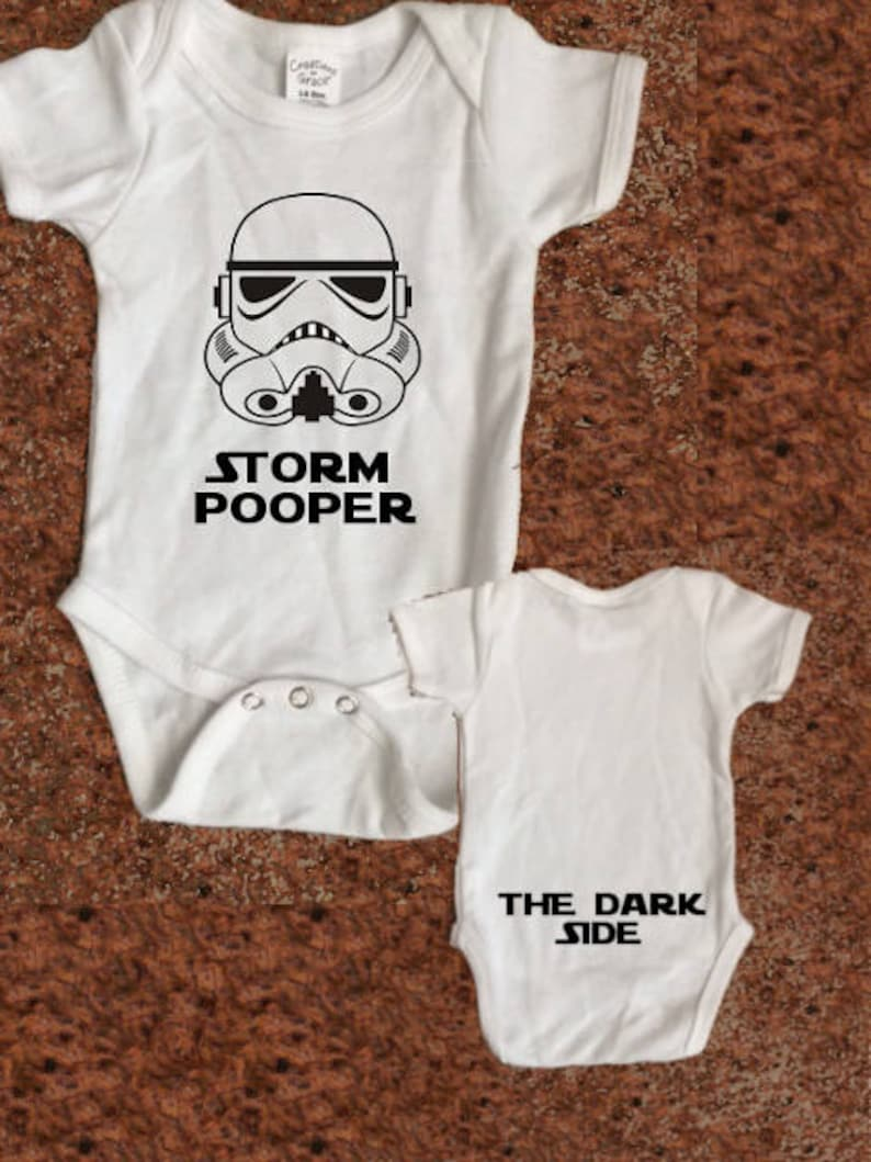 Original Stormtrooper A Little Short For A Stormtrooper Baby and Toddler Romper Suit