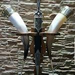 Wedding set handmade traditional wedding horn pair with daggers