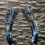 Wedding set Traditional Handmade Horn drinking wine horn pair