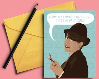 Broad City Val Funny Greeting Card