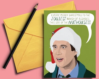 Clark Griswold National Lampoon's Christmas Vacation Funny Christmas Card - Merry Christmas, Holidays, Family