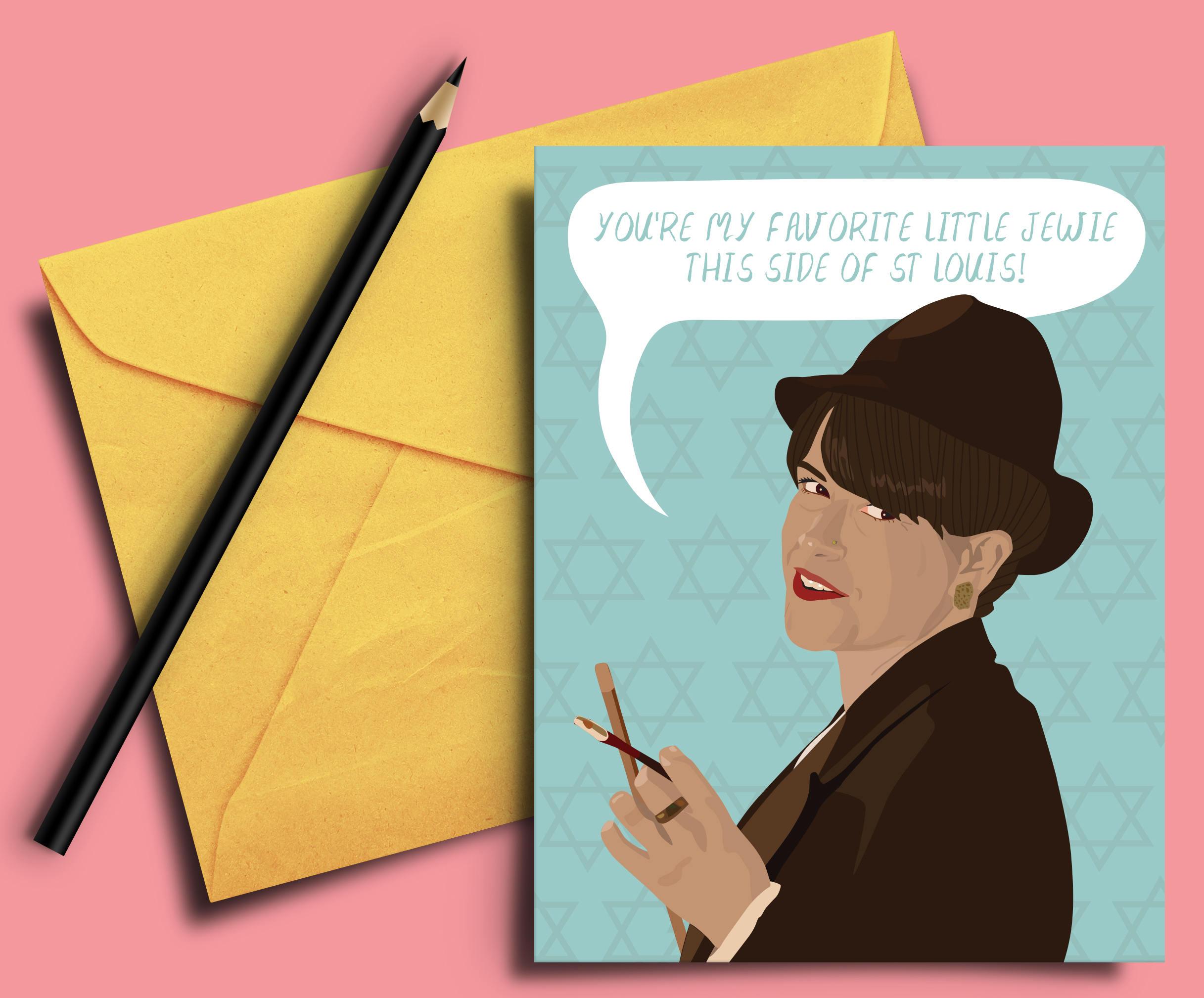 Broad City Val Greeting Card Abbi Jacobson   Etsy