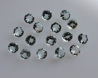 2.5 mm Natural  Aquamarine Round Faceted  Loose Gemstone AAA Quality