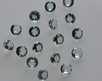 3 mm Natural  Aquamarine Round Faceted  Loose Gemstone AAA Quality