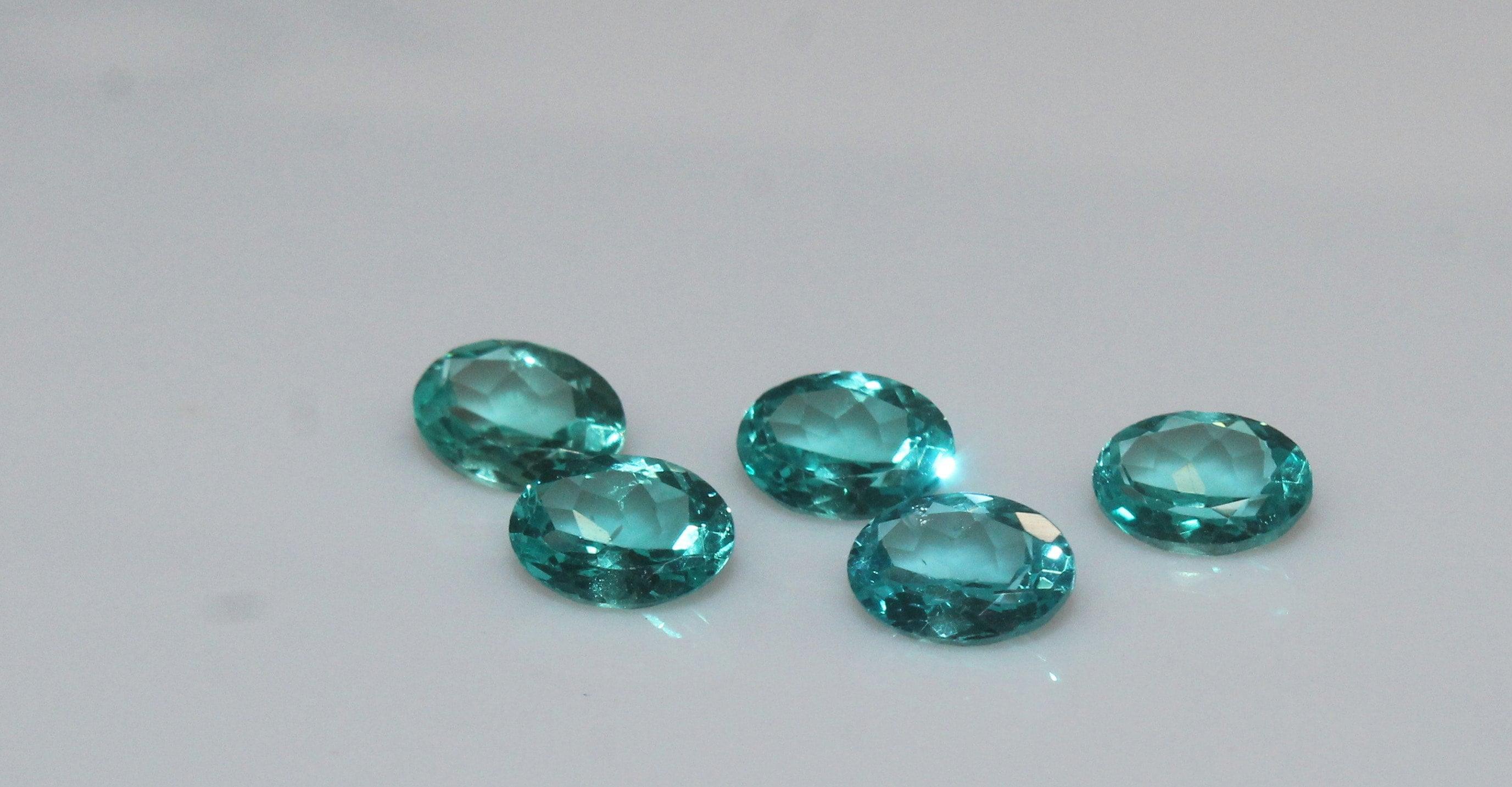 Vrac Paraiba naturel couleur Apatite à facettes 7 x x x 9 mm ovale à facettes-Paraiba Apatite AAA pierres précieuses de qualité pour 1 pièce 3e95d7