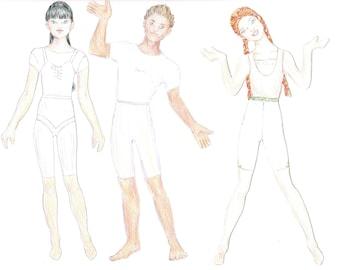 Fashion Designer Custom Paper Dolls