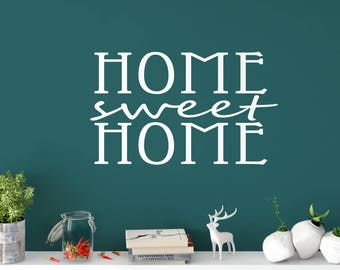 Custom Removable Home Sweet Home Wall Decal **Free Domestic Shipping**
