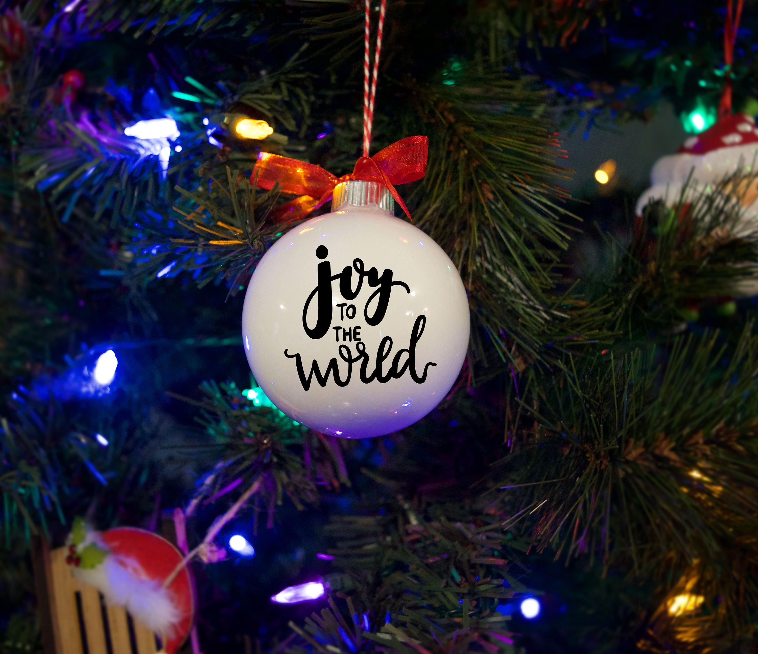 Christmas Ornament Joy To The World Free