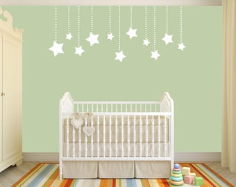 Custom Removable Stars Wall Decal **Free Domestic Shipping**