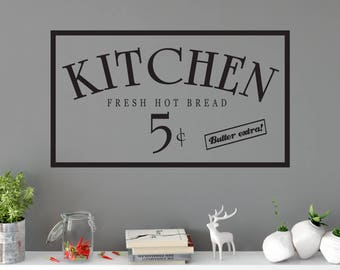 Custom Removable Kitchen Wall Decal **Free Domestic Shipping**