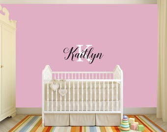 Custom Removable Baby Name Wall Decal **Free Domestic Shipping**