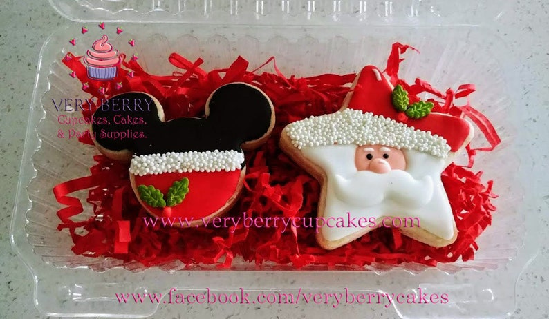 12 Mickey Mouse Christmas Cookies Mickey Christmas Cookies Santa S Cookies Gifts For Christmas