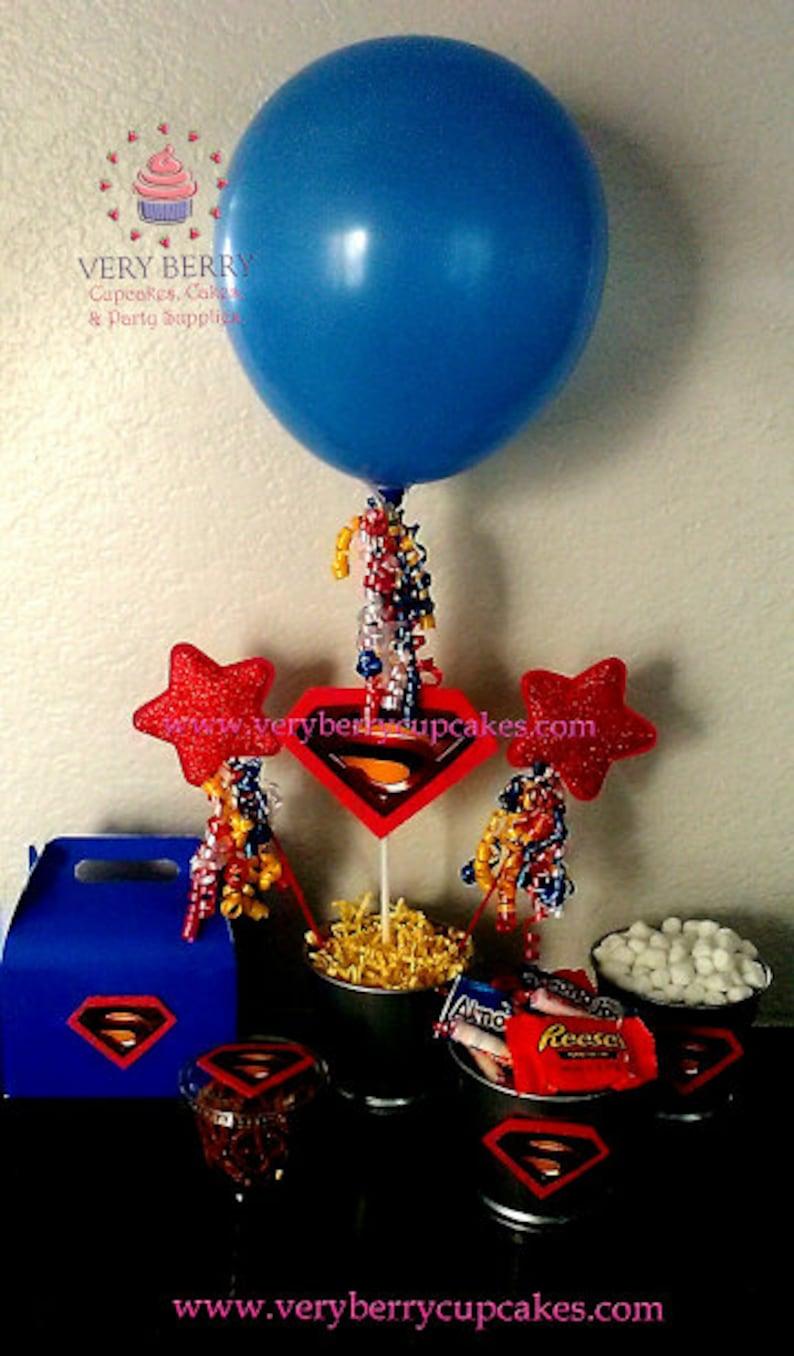 3 Superman Centerpieces/Superman party/super heroes image 0