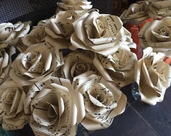 10 Musical paper roses